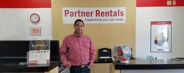 Visiting with Hernan del Aguila of Partner Rentals